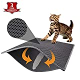 "Pieviev Cat Litter Mat Double-Layer Honeycomb -XL Size (30.1""×23.6""),Litter-Trapping,Super Soft,Light EVA Material"