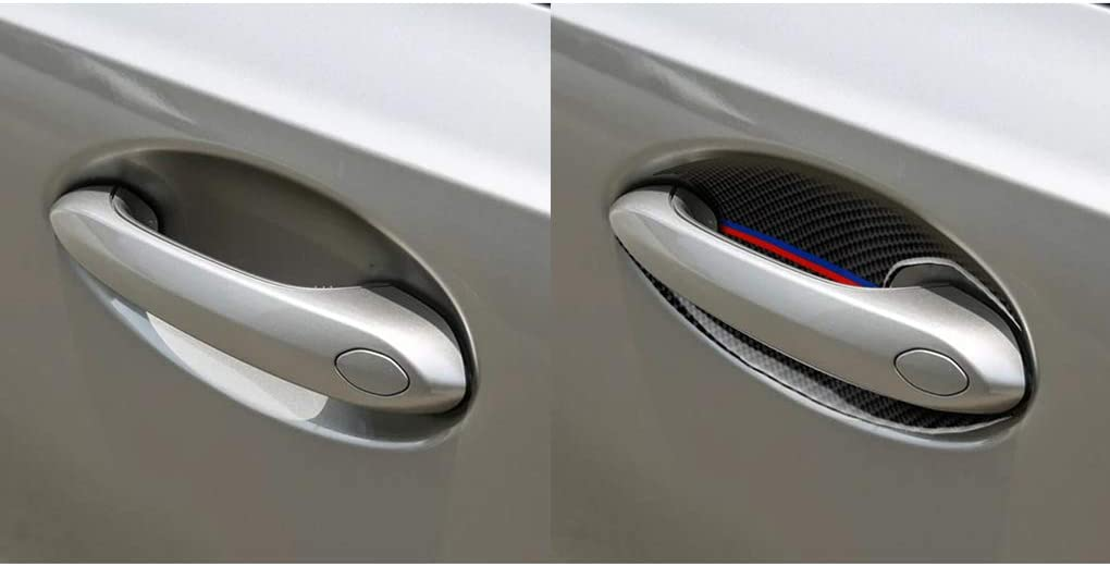 F-blue Replacement For 3 Series G20 G28 325li 330d 335 2019-2020 4pcs//set Exterior Door Bowl Cover Carbon Fiber Trim Decor