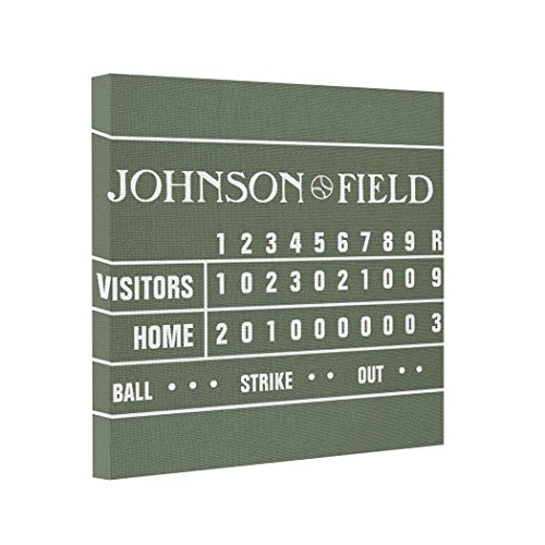 Gallery Wrapped Canvas Baseball Scoreboard - 60 x 40 Canvas Prints Sale