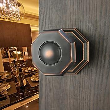 VanMe Pure Kupfer Innenkugelschloss Voll Kupfer Modern Chinese Innenraum  Tür Badezimmer Türschloss Schwarz Rot Alte Links