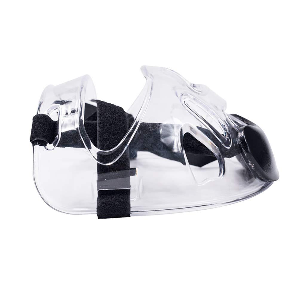 Transparente Funda Completa extra/íble con Tiras Ajustables protecci/ón para los Ojos visi/ón Clara para Karate Boxeo SYN Taekwondo Casco de protecci/ón Facial