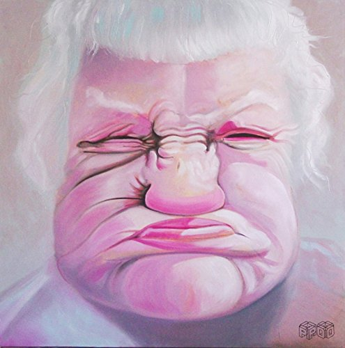 GIMME A KISS Original Oil on Canvas by Artist Peter Olsen (Gimme Kisses)