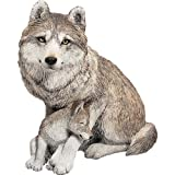 Sandicast Forever Friends Gray Wolf and Pup Sculpture, Sitting Review
