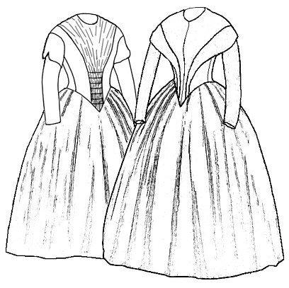 Civil War Ball Gown Pattern - 1845 German Day Dresses Patterns
