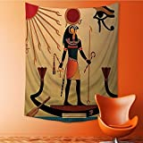 SOCOMIMI Wall Hanging 3D Printing Tapestry of God Sun Ra Faith Grace Icons Pagan Print Wall Tapestry for Dorm Living Room Bedroom 51.1L x 59W Inches