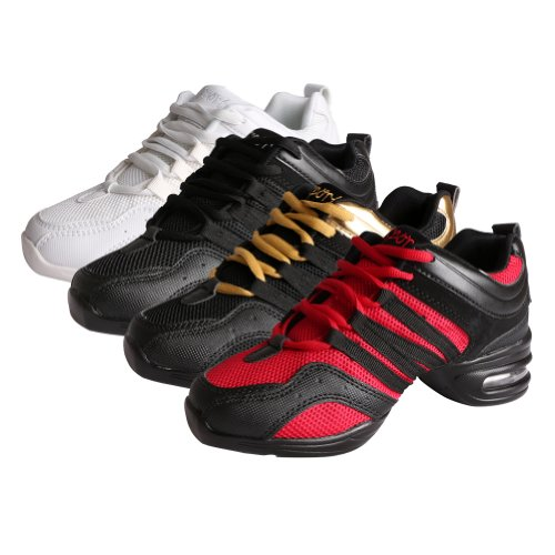 Dance and Black Performance YFCH Boost Men Shoes Jazz Trainers Sneakers Women's Dance Ballroom Sneakers Modern Red Sports wwvf5Zq