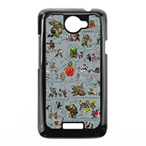 HTC One X Cell Phone Case Black Game Design draft VIU928279