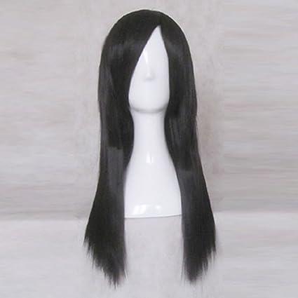 InuYasha Kagome Higurashi 60CM Long Black Cosplay Costume ...