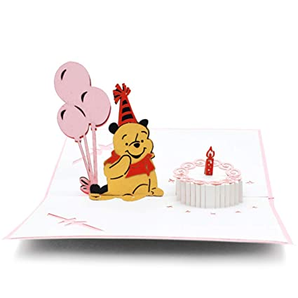 Magic Ants Handmade 3D Pop Up Card Birthday Cards Animal Pet For Kids Girl Daughter Baby