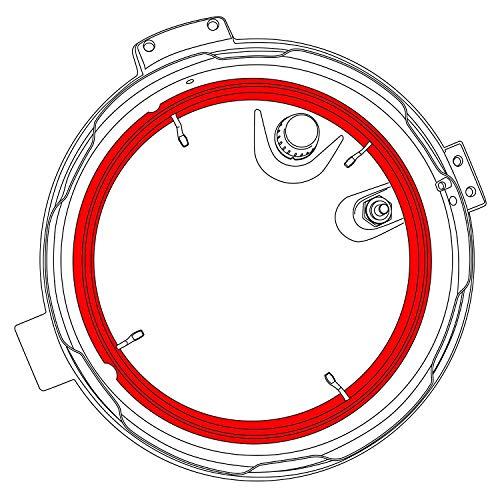 Silicone Gasket for NuWave Nutri-Pot 6Q Digital Pressure Cooker Model 33101 by GJS Gourmet (Image #1)