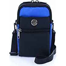 U-TIMES Casual Water Resistant Nylon Waist Bag Security Pack Crossbody Phone Pouch For 6 inch Cell Phones(Sky Blue)