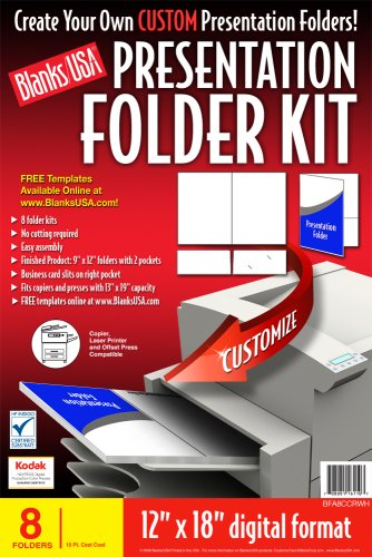 Blanks/USA Presentation Folder Kit (BFA8CCRWH)