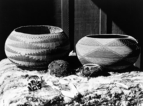 Pomo Baskets C1924 Nmagnesite Beads And Woven Baskets Made By Pomo Native Americans In California Photograph By Edward Curtis C1924 Poster Print by (18 x 24)