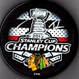 Johnny Oduya 2015 Stanley Cup Champions Autographed Signed Chicago Blackhawks Logo Licensed Hockey Puck