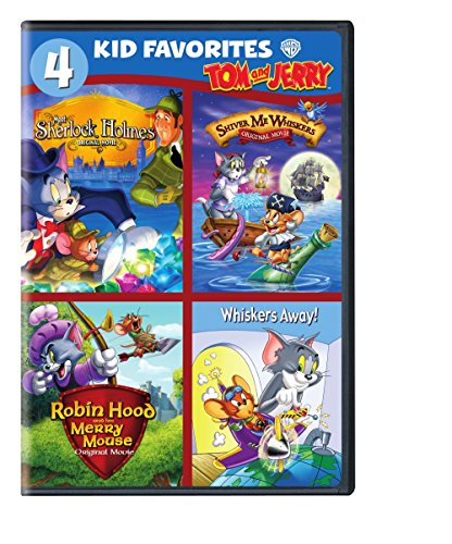 4 Kid Favorites: Tom and Jerry (Cartoon For Kids Dvd)