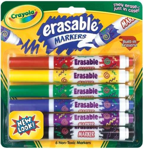 Crayola Erasable Assorted BIN588164 Category