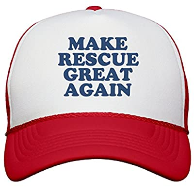 Make Rescue Great Again Hat: Snapback Mesh Trucker Hat