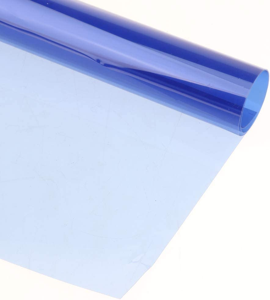 3Pieces 40x50cm Transparent Color Correction Lighting Gel Filter Colored Correction Overlays Plastic Filter Light Blue