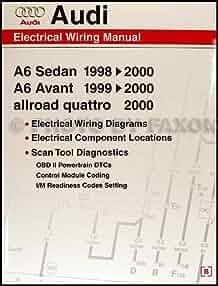 1998 2000 audi a6 wiring diagram manual audi 9780837601663 audi a6 wiring diagram rear view 8 pin wiring diagram audi a6 2000 #15