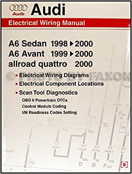 1998-2000 audi a6 wiring diagram manual: audi: 9780837601663: amazon com:  books