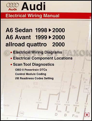 audi allroad wiring diagram 1998 2000 audi a6 wiring diagram manual audi 9780837601663  1998 2000 audi a6 wiring diagram manual