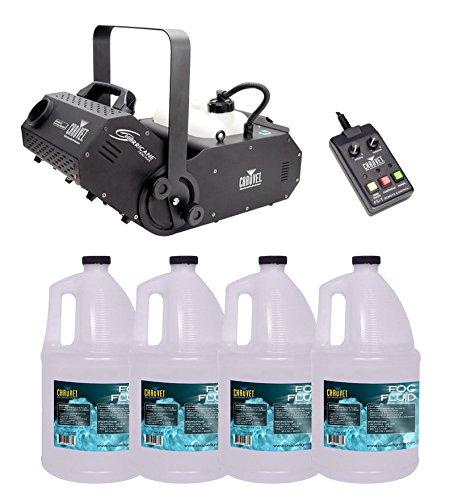 Chauvet DJ Hurricane 1800 H1800 Flex Fog/Smoke Machine W/4 FJU Gallons Fog Juice by CHAUVET DJ