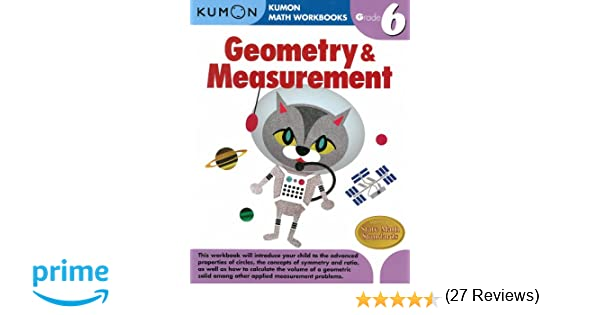 Math Worksheets free printable math worksheets 5th grade : Geometry & Measurement Grade 6 (Kumon Math Workbooks): Kumon ...