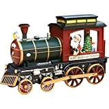 Roman Amusements Christmas Musical Lighted Rotating Santa Claus Saint Nicholas Express Train Figurine