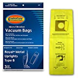 EnviroCare Replacement Micro Filtration Vacuum Bags for Royal Upright Type B Uprights 3 pack