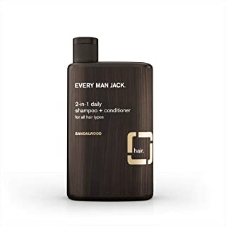 product image for Every Man Jack Daily Shampoo+Conditioner for All hair types, Sandalwood, 13.5 Fluid Ounce