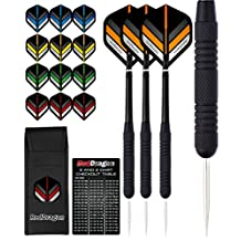 Red Dragon Typhoon: 20g - Steel Darts with Flights, Shafts, Wallet & Red Dragon Checkout Card