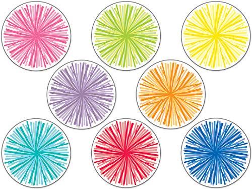 Carson Dellosa - Hello Sunshine Poms Colorful Cut-Outs, Classroom Décor, 36 - Outs Colorful Cut Cd