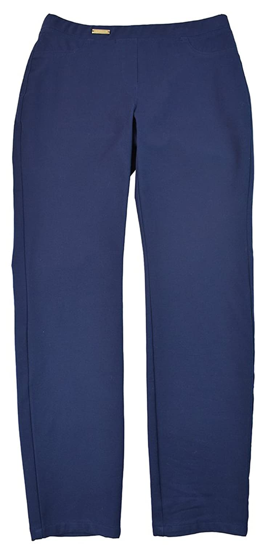 Charter Club Women's Skinny Leg Pants 4 Petite Navy