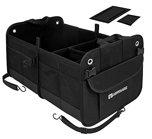 Autoark Multipurpose Car SUV Trunk Organizer,Durable Collapsible Adjustable Compartments Cargo Storage,AK-042 ()