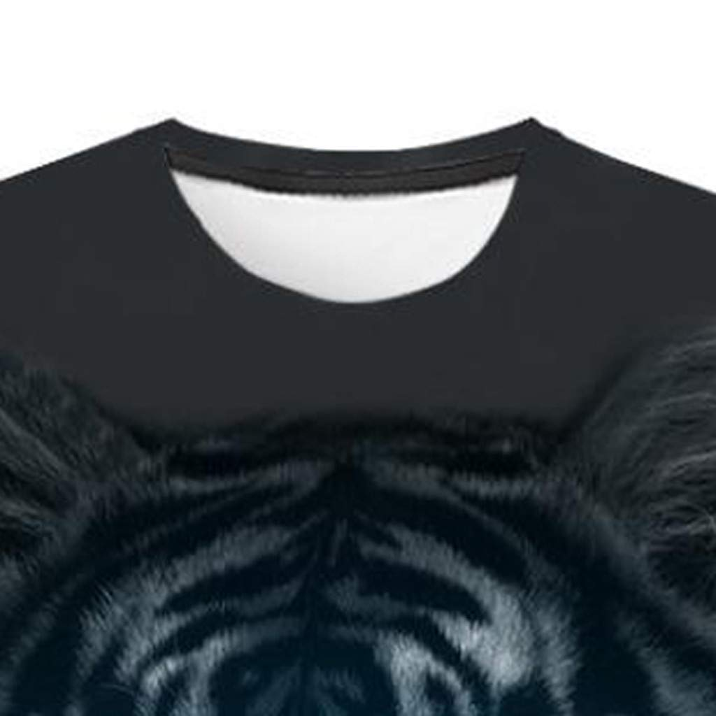 Men 3D Printing T-Shirt,Jchen Summer Mens Teen Boys 3D Tiger Print Casual Funny Tees Shirt Tops (L/US/EU Size:M, Black) by Jchen Men T-shirt (Image #5)