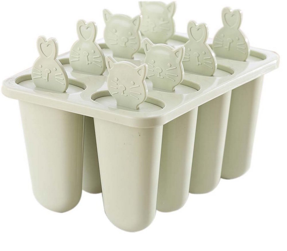 Homemade Ice Pop Mold Frozen Popsicle Ice Cream Mold 8 Lattices Animal Pattern,A by Gentle Meow