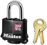 Master Lock 311D 20 Pack 1-9/16in. Covered Laminated Steel Pin Tumbler Padlock, Black