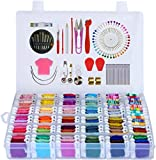 Embroidery Floss 218pcs Embroidery Thread String Kits with Organizer Storage Box Included 108pcs Colorful...