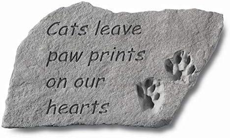 Design Toscano Cat Paw Prints Cast Stone Memorial Statue: Large