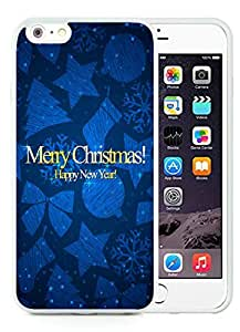 Diy iPhone 6 Plus Case,Merry Christmas happy new year White iPhone 6 Plus 5.5 TPU Case 1