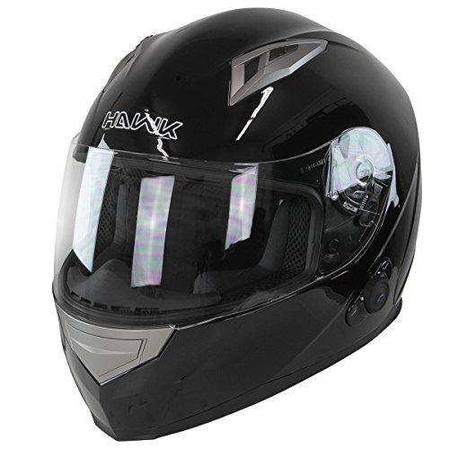 Hawk H-510 Glossy Black Bluetooth Full Face Helmet - Small by Hawk Helmets (Image #8)