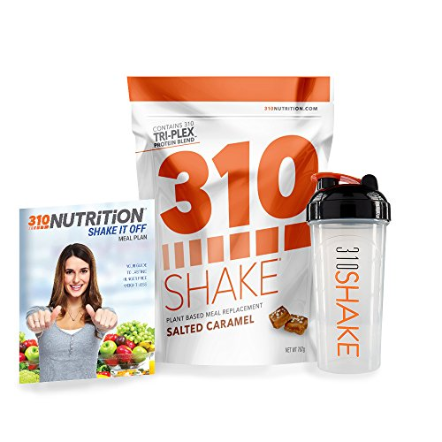310 Shake Salted Caramel (28 SRV) - Healthy Meal Replacement Shake with free 310 Shaker Cup and eBook