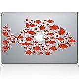 The Decal Guru Swim with the fishes Macbook Decal Vinyl Sticker  - 13'' Macbook Air - Orange (0146-MAC-13A-P)