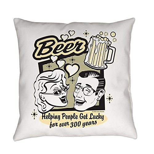 truly-teague-burlap-suede-or-woven-throw-pillow-beer-helping-people-get-lucky-burlap-16-inch