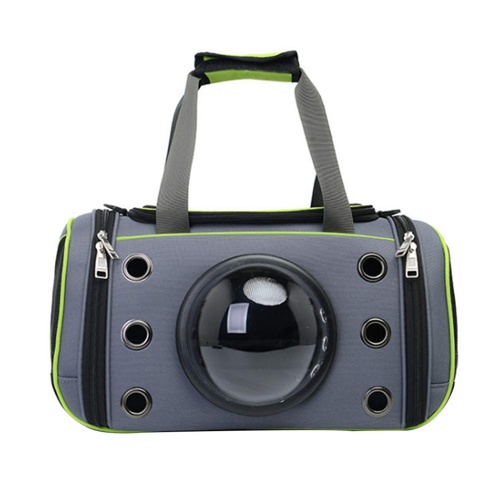 Green Small Green Small Pet Tote Breathable Cat Bag Outing Portable Dog Bag Folding Space Pet Bag Comfortable and Breathable,for Cats and Puppies, Designed for Travel, Hiking, Walking & Outdoor Use,Green,S