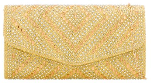 Glitter Clutch Girly HandBags HandBags Diamond Bag Girly Gold OxOSg4wq