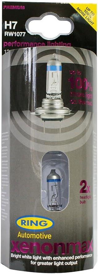Ring Automotive RW777 H7 Px26d Xtreme Blue with 50 Percent Halogen Headlamp 12 V 55 W