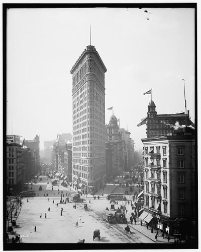 Photo: Flatiron Building,office facilities,carriages,skyscrapers,New York,1902 2