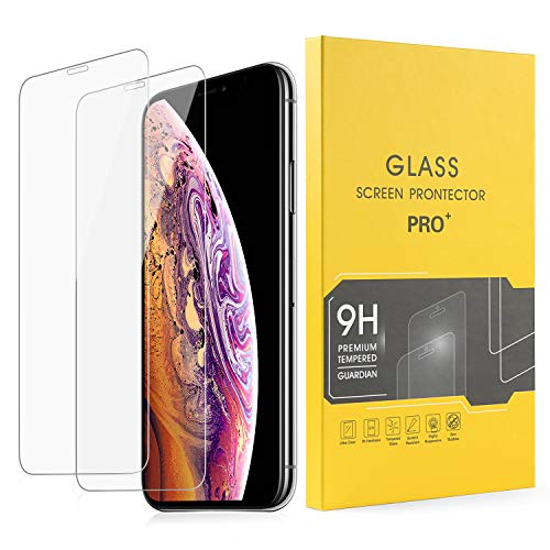 VOMLITE Screen Protector for iPhone Xs Max(6.5),Full Coverage Tempered Glass with Double-Defence, TPU Ultra HD Film, Hardness Anti-Shatter Protectors [3D Touch Compatible] (2Pack Full)