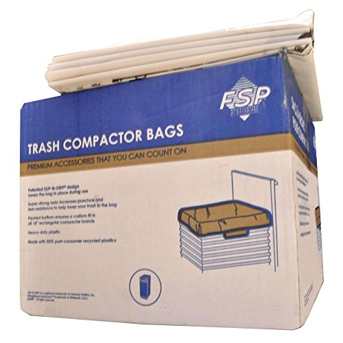 Whirlpool W10165294RB 15-Inch Plastic Compactor Bags, Pack of 60 by Whirlpool (USA Models)